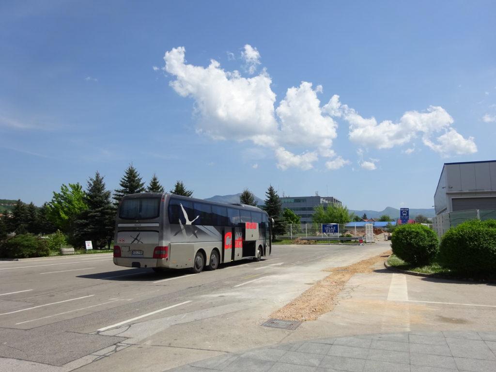 サラエボのバス停