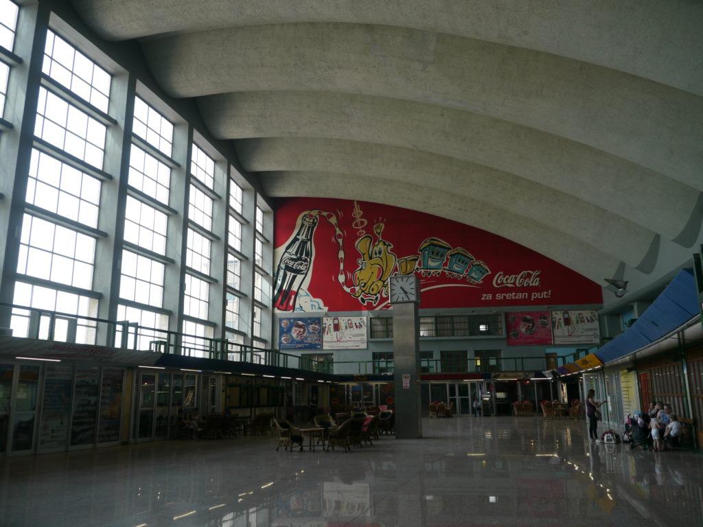 サラエボ中央駅内部