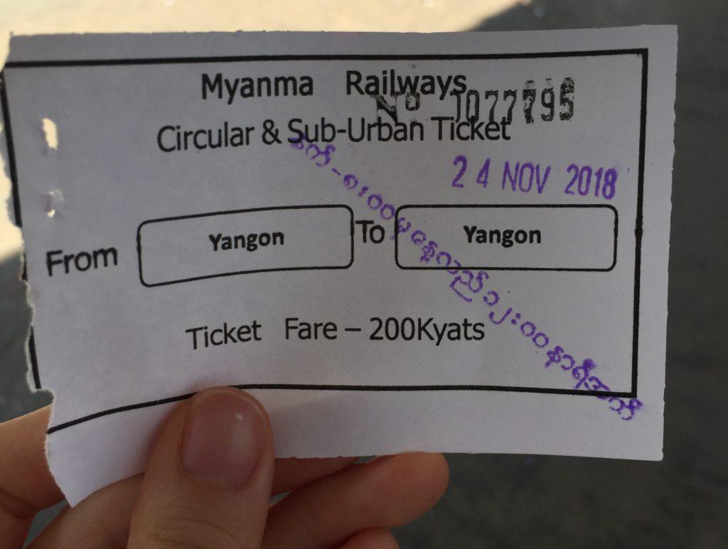 サークルラインの切符